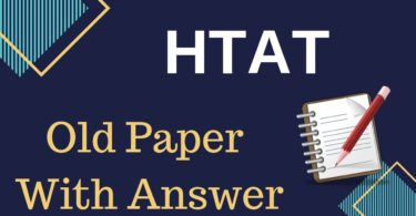HTAT Previous Year Old Question Paper With Answer Key